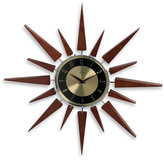Retro Wooden Sunburst Wall Clock