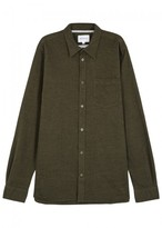 Norse Projects Hans Dark Green Cotton Shirt