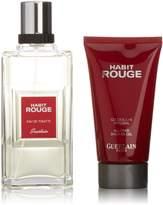 Guerlain Habit Rouge by for Men 2 Piece Set Includes: 3.4 oz Eau de Toilette Spray + 2.5 oz All Over Shower Gel