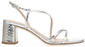 Via Spiga Roslyn Metallic Snakeskin Sandals