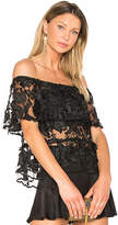 Backstage The Garden Party Top in Black. - size L (also in M,S,XS)
