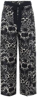 S Max Mara Cavour silk-satin straight pants