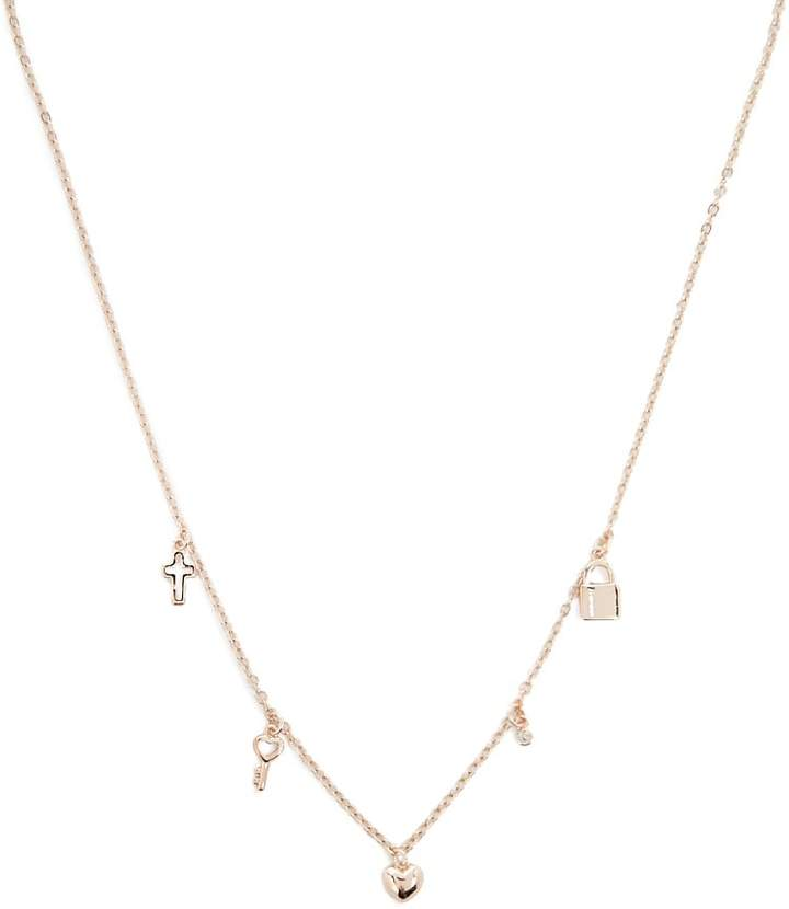 Forever 21 Lock & Key Charm Necklace