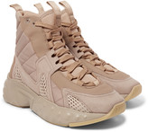 Acne Studios - Sami Suede And Nylon-trimmed Quilted Canvas High-top Sneakers