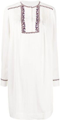 Closed Embroidered Tunic Dress