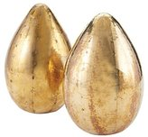Lazy Susan Dimond Home Metallic Egg in Pale Gold (Set of 2)