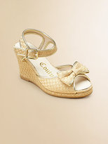 Juicy Couture Girl's Annika Bow Wedge Sandals