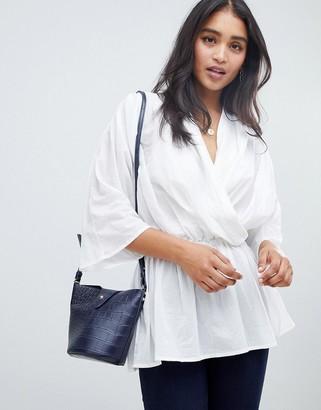 ASOS DESIGN oversized cotton long sleeve top