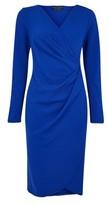 Dorothy Perkins Womens Blue Manipulated Bodycon Dress