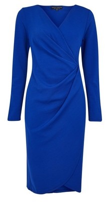 Dorothy Perkins Womens Blue Manipulated Bodycon Dress