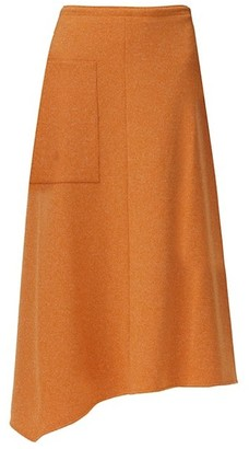 Tibi Speckled Knit Wrap Midi Skirt