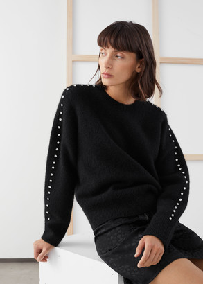 And other stories Rhinestone Embellished Sweater
