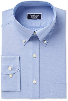 Club Room Men Classic/Regular Fit Performance Easy-Care Oxford Solid Dress Shirt