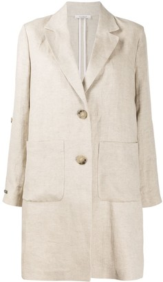 Peserico Single-Breasted Linen Coat