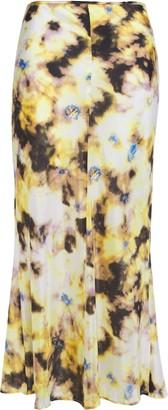 Georgia Alice Printed Cotton And Silk-blend Mousseline Midi Skirt
