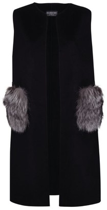 Harrods Fox Fur Pocket Gilet