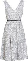 Gina Bacconi Enchanted metallic embroidered dress