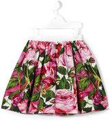 Dolce & Gabbana rose print skirt - kids - Cotton - 24 mth