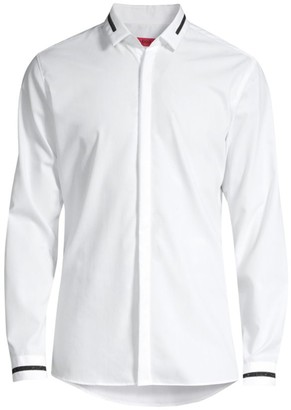 HUGO BOSS Eloy Stripe-Trim Shirt
