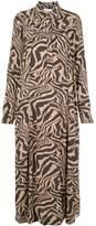 Ganni Zebra Print Shirt Dress