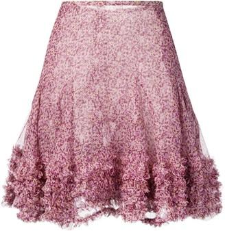 Stella McCartney floral-print mini skirt