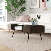 Dexter Coffee Table Foundstone Color: Acorn & Marble