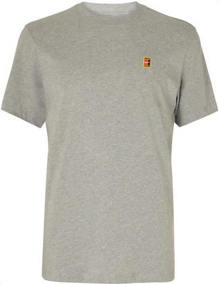 Nike Tennis Nikecourt Heritage Logo-Appliqued Melange Cotton-Jersey T-Shirt