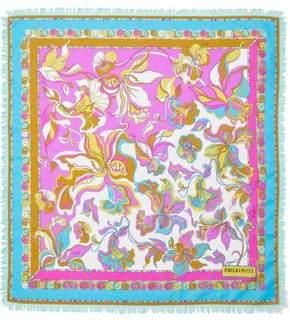 Emilio Pucci Frayed Floral-print Cotton-voile Scarf
