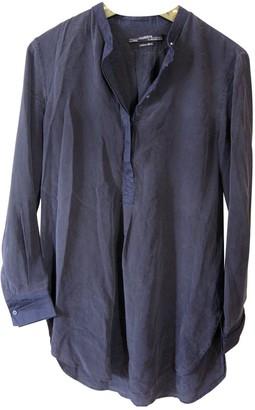 AllSaints Grey Silk Leather jackets