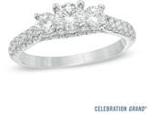 Zales Celebration Grand® 1-1/4 CT. T.W. Diamond Three Stone Ring in 14K White Gold (I-J/I1)