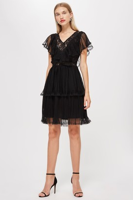 Lace & Beads Womens **Black Crimson Dress By Black