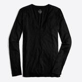 J.Crew Factory Long-sleeve featherweight slub cotton V-neck T-shirt