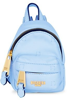 Moschino Mini Logo Leather Crossbody Backpack