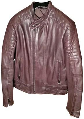 Diesel Purple Leather Jacket for Women