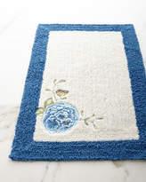 Lenox Blue Flower Garden Bath Rug