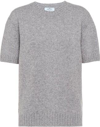 Prada Cashmere Short-Sleeve Jumper