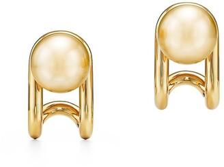 Tiffany & Co. City HardWear South Sea golden pearl earrings in 18k gold