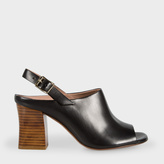 Paul Smith Women's Black Leather 'Roe' Heeled Sandals
