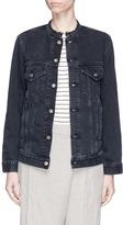 Bassike Oversized frayed neck denim jacket