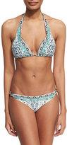 Camilla Silver Ball Printed Bikini Set, Snow Whispers
