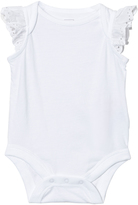 Gap Optic White Eyelet Flutter Body