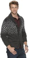 Men's SONOMA Goods for LifeTM Patterned Shawl Cardigan Sweater