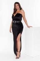 Nasty Gal Womens Total Eclipse of the Sweetheart Plus Velvet Dress - black - 16