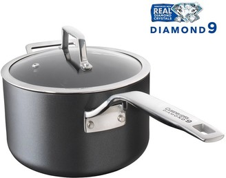 Cuisinepro Diamond 9 Hard Anodised Non-Stick Saucepan with Lid 20 x 12cm