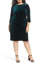 Eliza J Plus Size Women's Stretch Velvet Sheath Dress