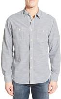 Grayers 'Workshirt' Trim Fit Stripe Sport Shirt