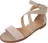 Brunello Cucinelli Cross Wrap Flat Sandal
