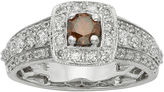 JCPenney MODERN BRIDE 1 CT. T.W. Certified White and Color-Enhanced Red Diamond Ring