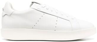 Santoni Low-Top Leather Sneakers