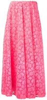 Valentino long floral lace skirt